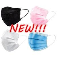 Neue 8 Farben Einweg Gesichtsmasken Rosa Weiß Mit Elastisch Ohrschleife 3 Laub Atmungsaktive Staubluft Anti-Umweltverschmutzung Gesichtsmaske Mundmasken Erwachsener Schneller Versand