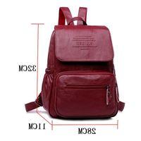 HE6P Fashion Capacity Women Designer High Large Quality School Backpack Designer- Leather Bags Bag Backpacks Travel F-374 Nhhle