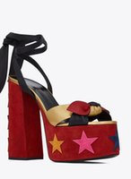 European Classic Style Women's shoes Sandals Fashion Slippers Sexy sandal heel Sequins Leather Waterproof platform with