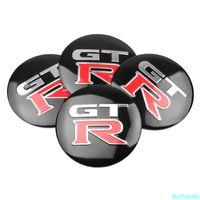 56mm Auto Reifen Radmitte Hub Cap Aufkleber Abzeichen Emblem Cover für Nissan GTR Tiida Teana Skyline Juke Almera Auto Zubehör
