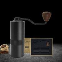 Manuelle Kaffeemühle mit einstellbarer Einstellung Edelstahl Konische Gratmühle für Espresso, französische Presse Tragbare Fräsmaschine KDJK2103