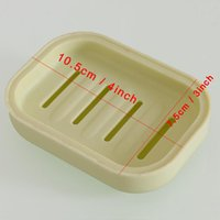 Thicken Plastic Soap Dish Tray Holder With Lids Rack Plate Box Container Dishes For Bath Shower Bathroom Supplies KKB6986