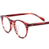 Hommes et femmes rétro petites lunettes rondes mode mode haute qualité assiette myopie ordonnance 19113 cadres de lunettes de soleil