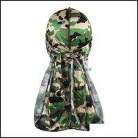 Beanies Caps Headwears Athletic Outdoor As Sports & Outdoorsbeanies 1Pc Mens Camo Silky Turban Durags Print Men Silk Durag Headwear Pirate H