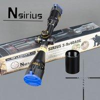 Nsirius guld taktisk 3-9x40 ao riflescope optisk syn röd grön llluminate crosshair jakt gevär räckvidd