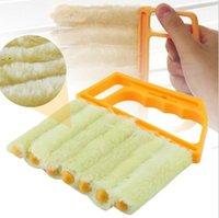 Microfibra útil Limpieza de la ventana Cepillo Aire acondicionado Limpiador de plumero con tela de limpieza de cuchillas vencores lavables OWD10043