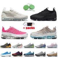 Nike Air Vapormax 360 Nike Vapormax 2021 أعلى جودة النساء رجالي الاحذية الهواءبخارAirmax المعدنية الذهب الأسود قزحي الألوان نيك رجل المدربين أحذية رياضية