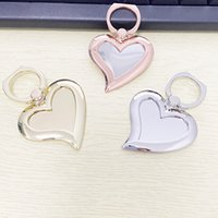 4 Color Universal 360 Degree Mirror Heart Shape Finger Ring Holder Phone Stand For iPhone 7 6s Samsung