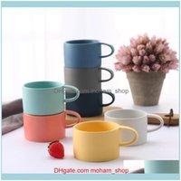 Mugs Kitchen, Dining Bar Home & Gardencoffee Milk Latte Cup Cute Tumbler Cups European-Style Pure Color Couple Ceramic Mug Creative Gift Dri