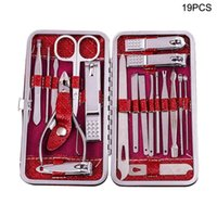 Nail Art Kits 19pcs Stainless Steel Household Manicure Set Professional Pedicure With Travel Case Sharp Cuticle Nipper Portable Clippers