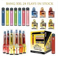 Bang XXL Одноразовый Vape Pen Ecigarette Starter Kit Устройство 2000 Puffs 800mAh Power Battery Заполненные 6 мл Pods Картридж Puff Plus Air Bar
