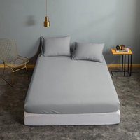 Sheets & Sets Solid Color Home Fitted Sheet 150 For Double Single Bed Corners Cover Couple Adult 160x200 180x200 Bedsheet Modern