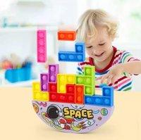 Descompresión colorido burbuja burbuja bloques de construcción pilas de alta capacidad de los niños equilibrio Educación temprana juguetes educativos
