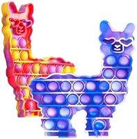 DHL Fidget Juguetes de silicona Burbuja Sensorial Alpaca Alpaca Alfuerzo Ansiedad Inquietante Alaría Descompresión Estreno Estresado, inquieto autismo para niños y niñas