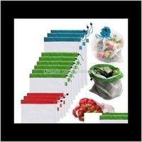 Temizlik organizasyonu ev bahçeleri !!! Toptan 5 Paketi Kullanımlık Çanta Çanta Siyah Halat Örgü Sebze Meyve Oyuncaklar Depolama Kılıfı D