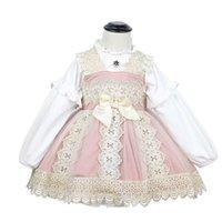 Cekcya Baby Girls Vestido español Niño Turquía Vintage Princesa para Niños Niños Lolita Bola Vestido Cumpleaños Fiesta de cumpleaños 210615