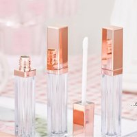 5ML DIY Lipgloss Plastic Box Packing Bottles Containers Empty Rose Gold Lipgloses Tube Eyeliner Eyelash Container Mini Lip EWF8877
