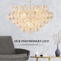 Lampade a sospensione Moderno Golden Golden Glass Lampadario Living Room E14 LED Illuminazione da cucina Plafoniera da camera da pranzo