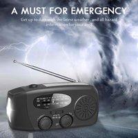 Radio Portable Solar Weather AM FM WB NOAA Battery Indicator Light USB Hand Crank Power Generation Mobile Phone Charging