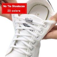 متعدد الألوان مرونة لا التعادل أربطة الحذاء أقواس الحذاء نصف دائرة أحذية الحذاء رباط الحذاء سريعة كسول معدنية قفل الأربطة دون علاقات