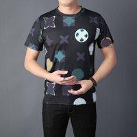 여름 패션 디자이너 탑스 럭셔리 편지 자수 티셔츠 망 남성 여성 의류 반팔 티셔츠 남자 티셔츠 M-3XL