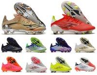 2021 x SpeedFlow.1 FG F50 El Retorno Messi.1 Mens Soccer Sapatos de Futebol Escape Luz Redcore Blacksolar Meteorito Pacote de Velocidade Botas de Velocidade Botas Gerais Tamanho US 6.5-11