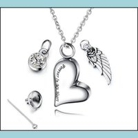 Tag,Id Dog Pet Supplies Home & Gardendog Tag Id Card Stainless Steel Urn Pendant Necklace With Birthstone Crystal Angel Wings Ash Heart Memo