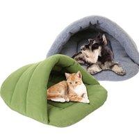 Color suave polar vellón camas para perros invierno cálido mascota calentada estera cachorro pequeño perrito casa de perrito para gatos saco de dormir nido cueva cueva kennels bolígrafos