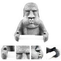 Коробки тканей салфетки 1 шт. Рулонная бумага Бумажная стойка Пасхальный остров Moai Дизайн настенные настенные