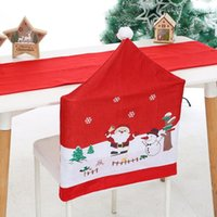 Merry Christmas Decorations For Home Santa Chair Cover Ornam...