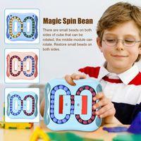 Rotante Magic Bean di punta del fingerimento di rubik per il cubo didattico del cubo per bambini del dito del disco del finger da gyro dello stress del disco di Gyro Sensore sensoriale