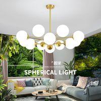 Pendant Lamps Nordic Led Glass Ball Luminaria Pendente Hanglamp Hanging Lights Lamp Bedroom Living Room