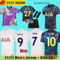 Футболка 20 21 Tottenham Hotspurs BALE NDOMBELE 2020 2021 DELE KANE Spurs SON CLARKE Футбольная футболка WINKS мужская Джерси Детский комплект