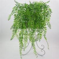 Fleurs décoratives de luxe Couronnes Simulation Perse Feuille Plaquée Willow Vine Verre Verre Verre Plante Suspending Chlorophytum Décoration