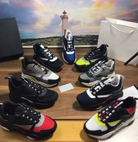 Designer B22 Donna uomo Sneakers Scarpe casual Casual Scarpe Casual Pelle Velfskin Sneaker Blu Grey Trainer Top Technical Knit Donne Piattaforma Spa scarpa Sport con scatola grande taglia 35-46