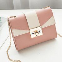 Card Holders Contrast Color Bag Cover Women's Shoulder Small Square Cute Metal Crossbody Mobile Phone Coin Purse Chain Handbag