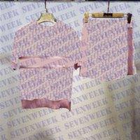 니트 Womens 잠옷 Tracksuits 잠옷 세트 자카드 편지 여성 스포츠 착용 조깅 세트 짧은 슬리브 나이트웨어