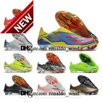 GIFT BAG Mens High Tops Football Boots X 20+ FG Firm Ground Cleats Outdoor Ghosted Laceless Trainers Man Black Red Blue Yellow Soccer Shoes