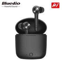 TWS Bluetooth hörlurar Bluedio HI trådlösa öronproppar - Kompatibel stereo Sport Earbuds Trådlös headset Inbyggd mikrofon
