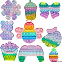 Fidget Stress Toys Push Bubble Fidget Sensory Toy Autism Special Needs Stress Reliever Children Funny Gift Fidget Its 2747 Y2