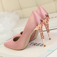 2021 fashion luxury designer women's shoes high heels 8cm 10cm nude black red leather pointed shallow shoes bottom dress shoes