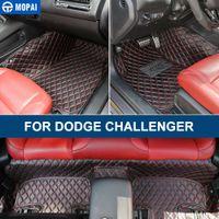 Araba Deri Halı Paspaslar Ayak Pedleri Dodge Challenger 2014+ için Kapsanan Tam
