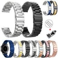 18mm 22mm 20mm 24mm Band Strap For Samsung Galaxy Watch 3 42 46mm gear S3 Active2 Steel for Huawei GT 2 Xiaomi Amazfit BIP GTR 2