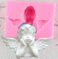 3D Love Eros Chocolate Molde de Chocolate Postre Molde Cupido Pastel Molde San Valentín Plantilla Torta DIOS DEL AMOR BODA MOLDO DE HORNA DE LA BODA DWF7770