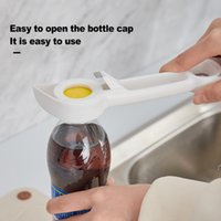 Creative 4 in 1 Multi-purpose Beverage Bottle Opener Multifunctional Can Opener Artifact Corkscrew Kitchen Tool BWD8766