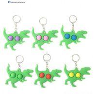 حزب الكرتون تصميم الحيوان رغوة مفتاح سلسلة الأطفال الأخضر triceratops الديناصور لعبة تخفيف الضغط هدية صغيرة بالجملة