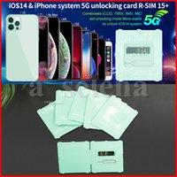 RSIM 15+ r sim 15 cartão desbloqueio para iPhone RSIM15 desbloqueio iOS14 Sistema RSIM15 + 5G Dispositivos desbloqueados Dual CPU