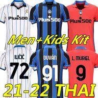 21/22 Atalanta B.C. Futebol Jerseys Duvan Ilicic L.Muriel Gosens 2021 2022 ATA BC Mirancihuk Malinovskyi Camisa de Futebol Maglia Men Kids uniforme