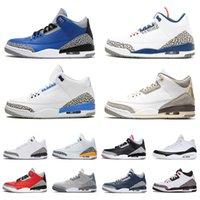 Nike Air Jordan Retro 3 Jordans 3s Jumpman aj III para hombre Zapatos de baloncesto para mujer UNC Cour Cour Purple Knicks Rivals Hombres Zapatillas Deportes Entrenadores