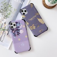 Retro Colorful Flower Phone Case For iphone 12 11 Pro Max XR XS X 6 6S 7 8 Plus SE 2020 Leaves floral Soft IMD Back Cover